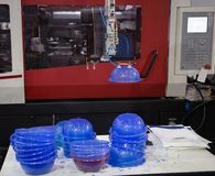 Plastic injectie het vormen persmachine royalty-vrije stock foto's