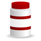 Plastic jar Royalty Free Stock Photography