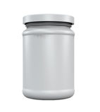 Plastic Jar Bottle. Isolated on white background. 3D render Royalty Free Stock Images