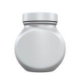 Plastic Jar Bottle. Isolated on white background. 3D render Stock Image