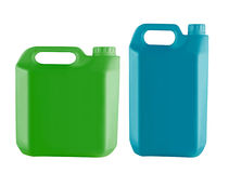 Plastic jerry can Stock Photos
