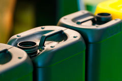 Plastic Jerrycans Royalty Free Stock Images