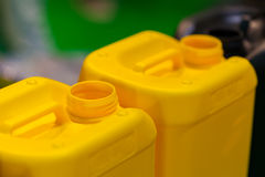 Plastic Jerrycans Stock Images