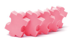 Plastic jigsaw puzzles Stock Photo