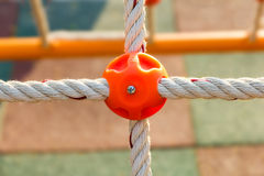 Plastic joint of rope Stock Image