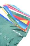 Plastic kaarten Stock Afbeelding