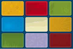 Plastic kaarten (vector) royalty-vrije illustratie