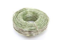Plastic kabel over witte achtergrond Royalty-vrije Stock Fotografie
