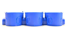 Plastic kabeldoos Stock Fotografie