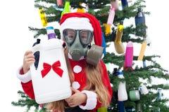 Plastic Kerstmis stock fotografie
