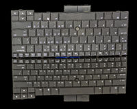 Plastic keyboard for a laptop computer Royalty Free Stock Photo