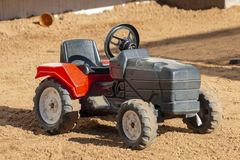 A Plastic Kids Ride On Tractor royalty free stock images
