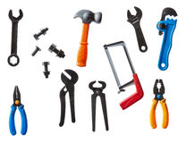 Plastic kids tools Royalty Free Stock Photo