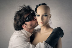 Plastic kisses taste Royalty Free Stock Photo