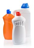 Plastic kitchen bottles Stock Photo
