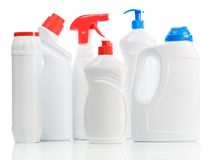 Plastic kitchen bottles Royalty Free Stock Photo