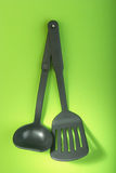 Plastic kitchen utensils Royalty Free Stock Photo