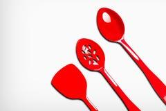 Plastic kitchen utensils Stock Photo