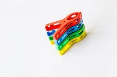 Plastic klem royalty-vrije stock foto's