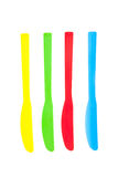 Plastic knives Royalty Free Stock Photography