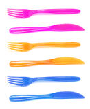 Plastic Knives and Forks Royalty Free Stock Photography