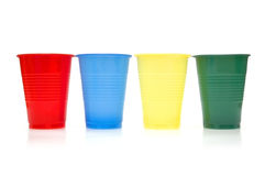 Plastic koppen stock foto