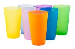 Plastic koppen van diverse kleur Royalty-vrije Stock Afbeelding