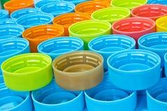 Plastic kroonkurken Royalty-vrije Stock Afbeelding