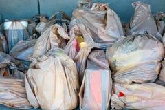 Plastic kruidenierswinkelzakken Stock Afbeeldingen