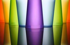plastic kulöra frostade exponeringsglas Fotografering för Bildbyråer