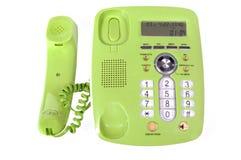 Plastic landline telefoon met knopen die op a worden geïsoleerd Royalty-vrije Stock Fotografie