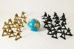 Plastic Lead Soldiers Royalty Free Stock Photography