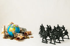 Plastic Lead Soldiers Royalty Free Stock Photos