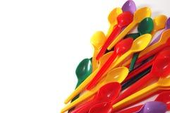 Plastic lepel Royalty-vrije Stock Foto's