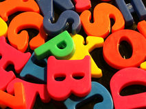 Plastic Letters. Colorful plastic letters Royalty Free Stock Photography