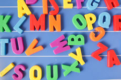 Plastic letters Stock Photography