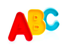 Plastic letters ABC Stock Photo