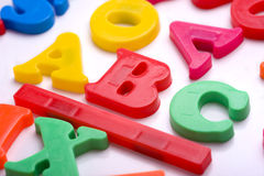 Plastic Letters - ABC Stock Images