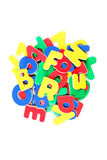 Plastic letters Royalty Free Stock Photography