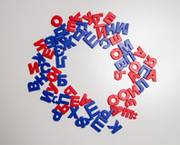 Plastic letters of the Russian alphabet. Stock Image