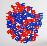 Plastic letters of the Russian alphabet. Stock Photos