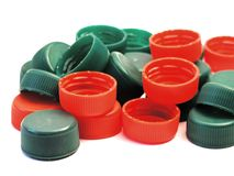 Plastic lids Royalty Free Stock Images