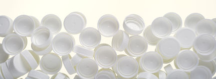 Plastic lids Royalty Free Stock Photos