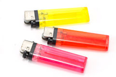 Plastic lighter colorful  Royalty Free Stock Images
