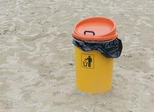 Plastic litter bin Royalty Free Stock Images