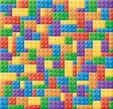 Plastic Locking Block Puzzle. Seamless colored children locking block puzzle stock photography