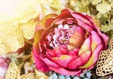 Plastic lotusbloembloem Royalty-vrije Stock Fotografie