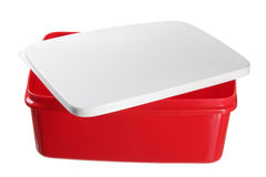 Plastic Lunch Box. On White Background Royalty Free Stock Photo