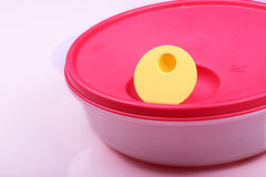 Plastic lunchbox Stock Images
