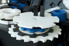 Plastic machine parts. Royalty Free Stock Image